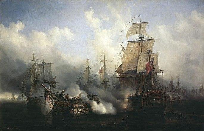Batalla de Trafalgar. Bonaparte