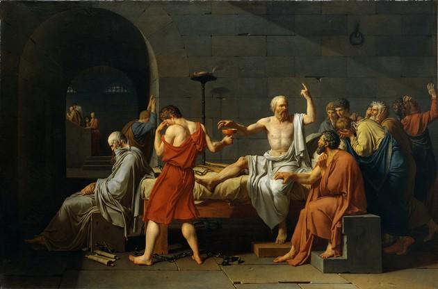 Pintura, muerte de Sócrates