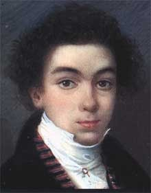 Simón Bolívar en la juventud