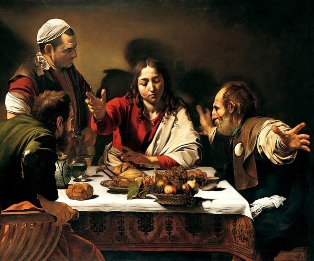 La cena de Emaús (1606), Caravaggio