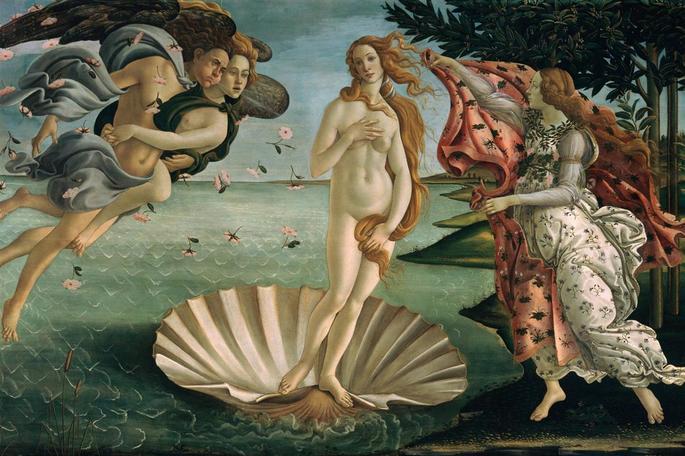 El nacimiento de Venus, Botticelli