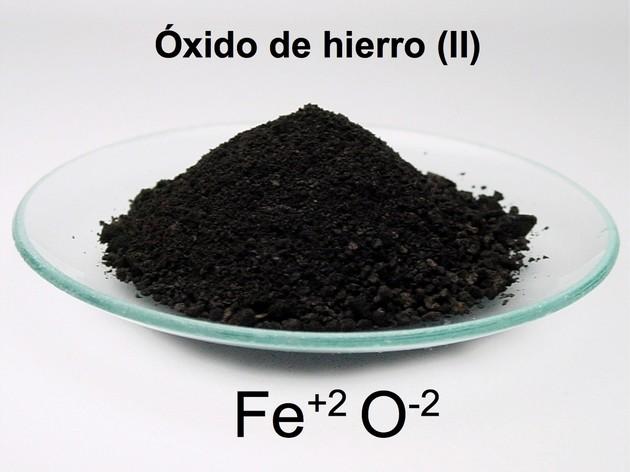 óxido de hierro (II) compuesto ionico