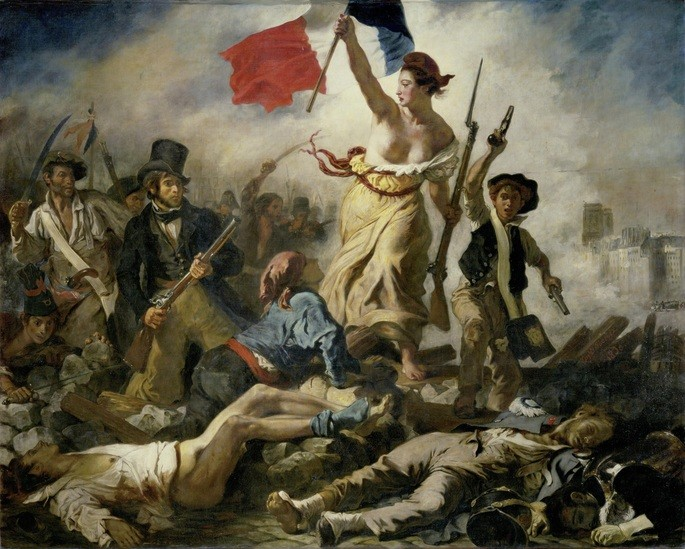 La libertad guiando al puebo- Delacroix