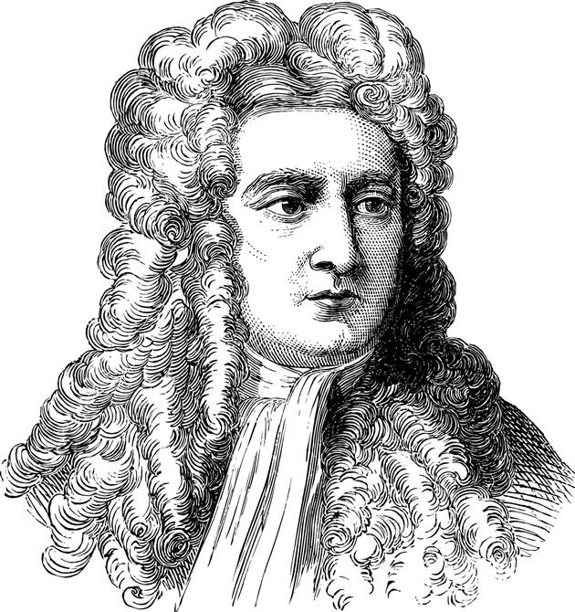 Retrato clasico de Isaac Newton