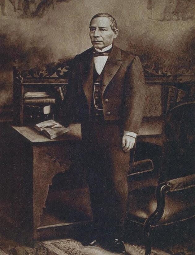óleo Benito Juárez