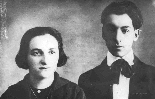 Oablo Neruda y su hermana